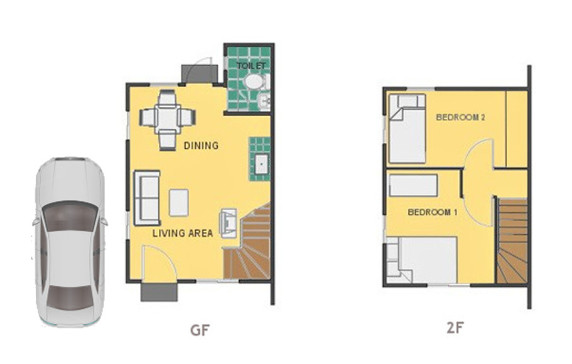 Mika Floor Plan House and Lot in Laguna