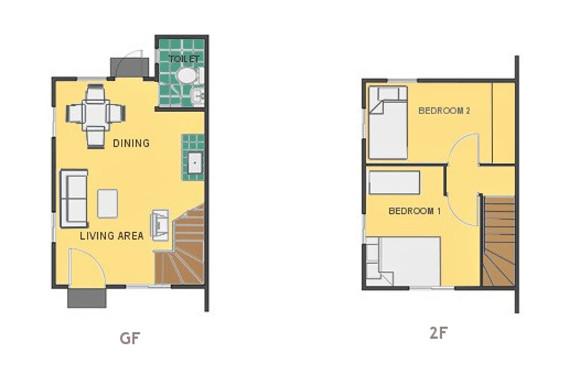 Mikaela Floor Plan House and Lot in Laguna