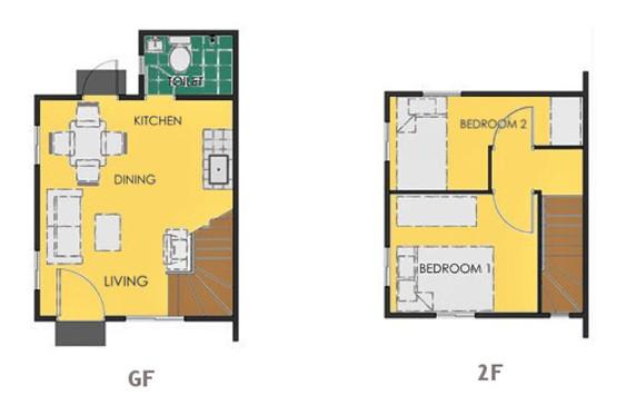 Ravena Floor Plan House and Lot in Laguna