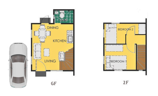 Reva Floor Plan House and Lot in Laguna