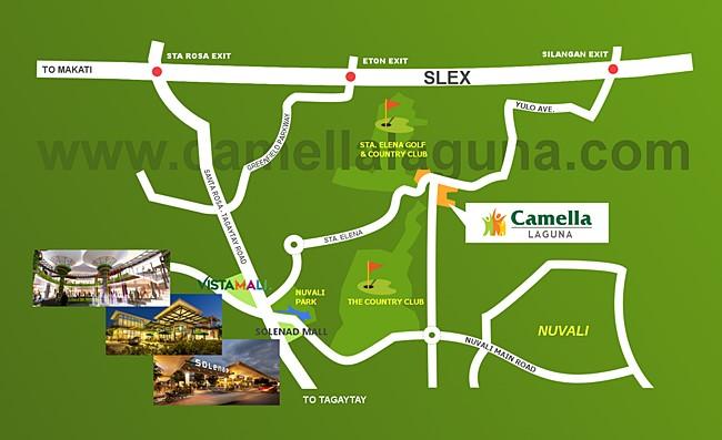 Camella Laguna Location and Amenities