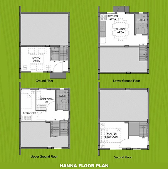 Hanna Floor Plan House and Lot in Laguna