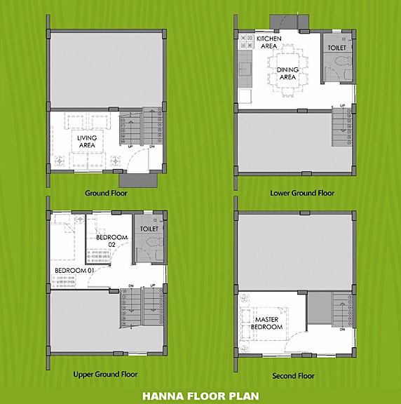 Hanna Floor Plan House and Lot in Laguna