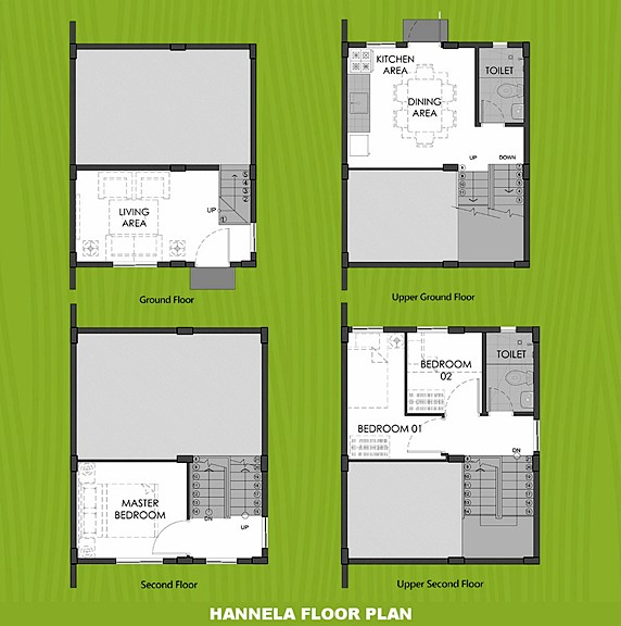 Hannela Floor Plan House and Lot in Laguna