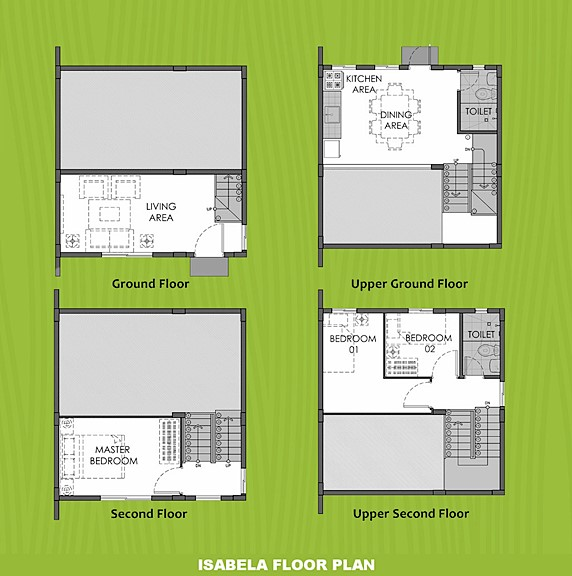 Isabela Floor Plan House and Lot in Laguna