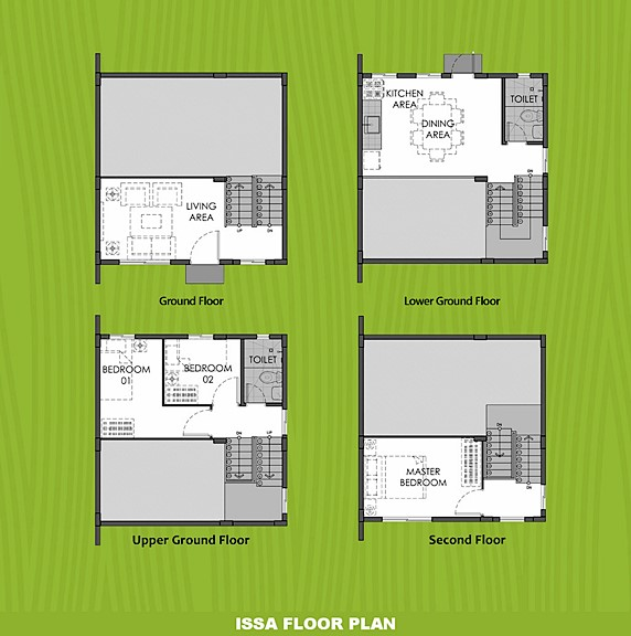 Issa Floor Plan House and Lot in Laguna