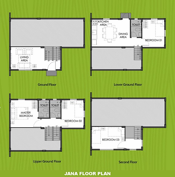Janna Floor Plan House and Lot in Laguna