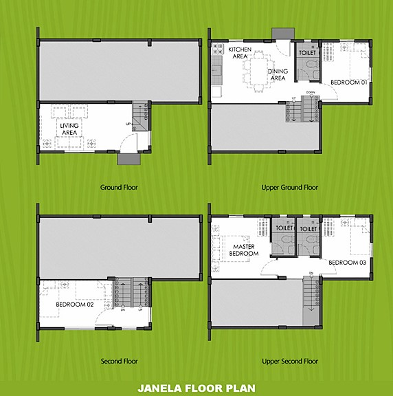 Janela Floor Plan House and Lot in Laguna