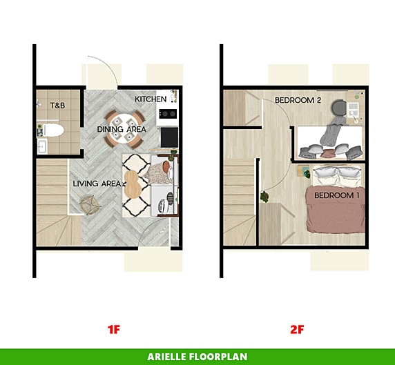 Arielle Floor Plan House and Lot in Laguna