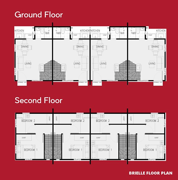 Brielle Floor Plan House and Lot in Laguna