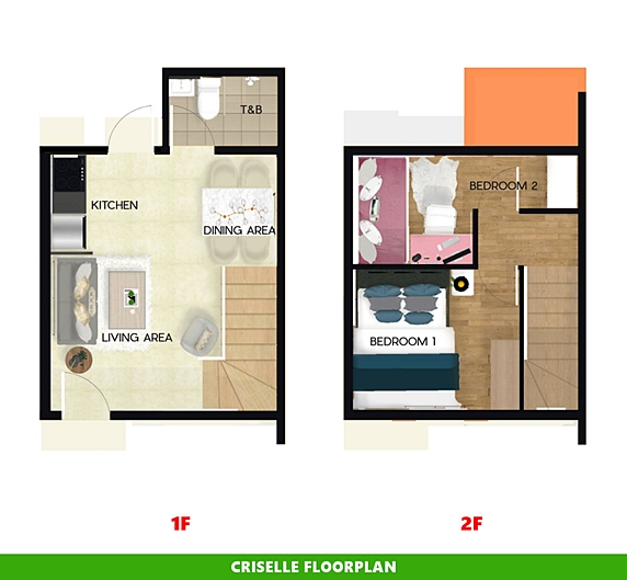 Criselle Floor Plan House and Lot in Laguna