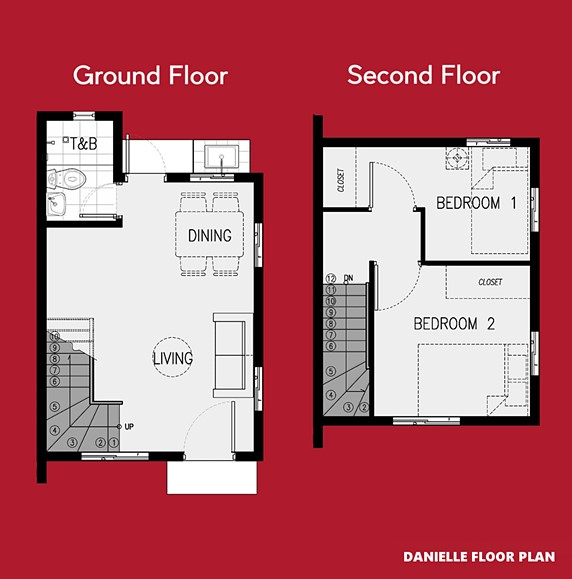 Danielle Floor Plan House and Lot in Laguna