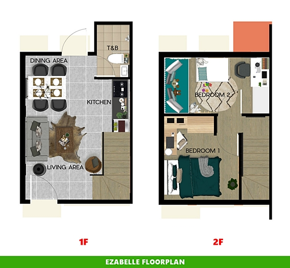 Ezabelle Floor Plan House and Lot in Laguna