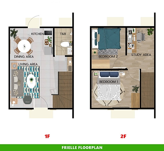 Frielle Floor Plan House and Lot in Laguna