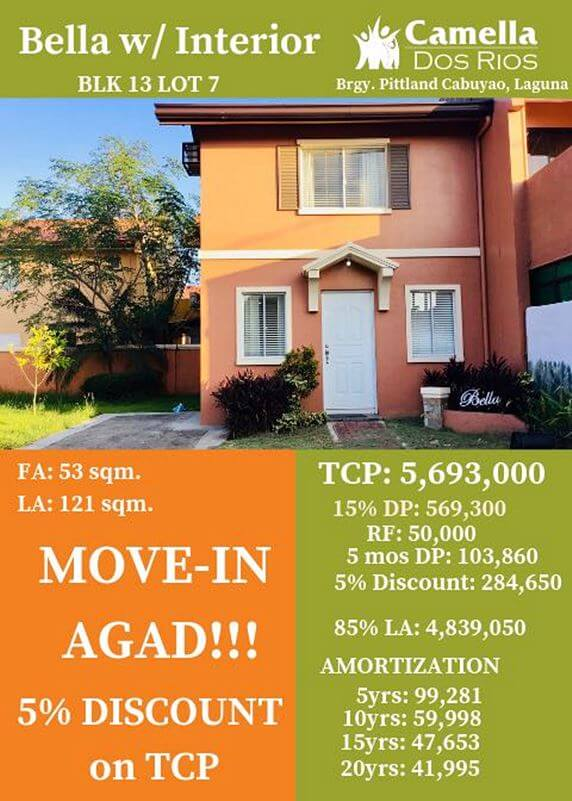 RFO Houses for Sale in Camella Laguna.